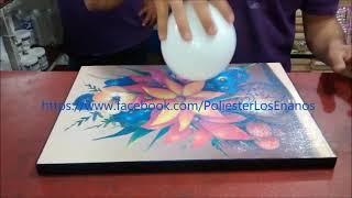 Pegado de poster y aplicación de Polioleo/Imitacion de oleo (Blanca y Jonathan)