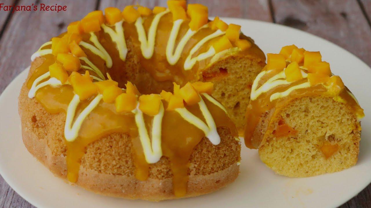 কম খরচে চুলায় তৈরি ম্যাংগো স্পঞ্জ কেক।।কেক রেসিপি।।আমের কেক।।Cake Recipe।।Mango Cake।। Sponge Cake