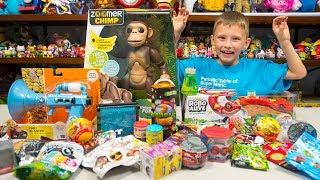 HUGE Zoomer Monkey Toy Surprise Toys Blind Bags Eggs Fart Gun Snake Toys for Boys Kinder Playtime