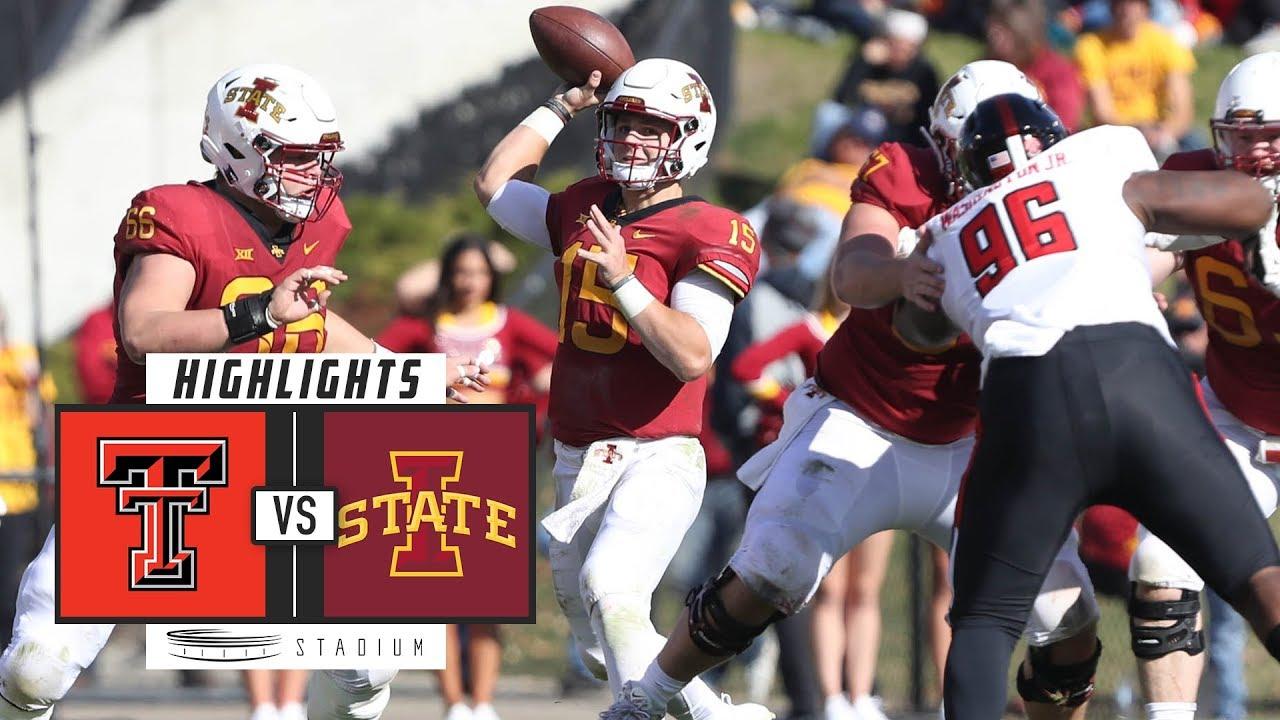 Texas Tech Vs Iowa State Football Highlights 2018 Stadium Youtube