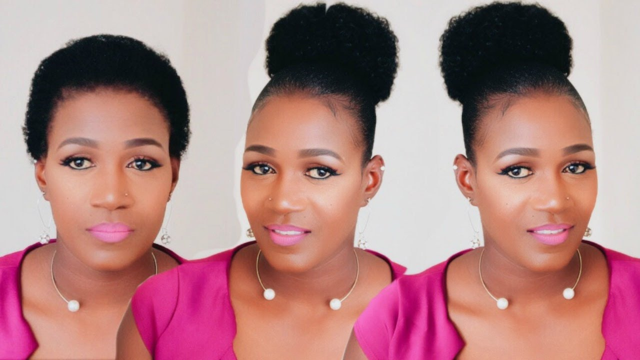 Afro Puff On Short Natural Hair Youtube