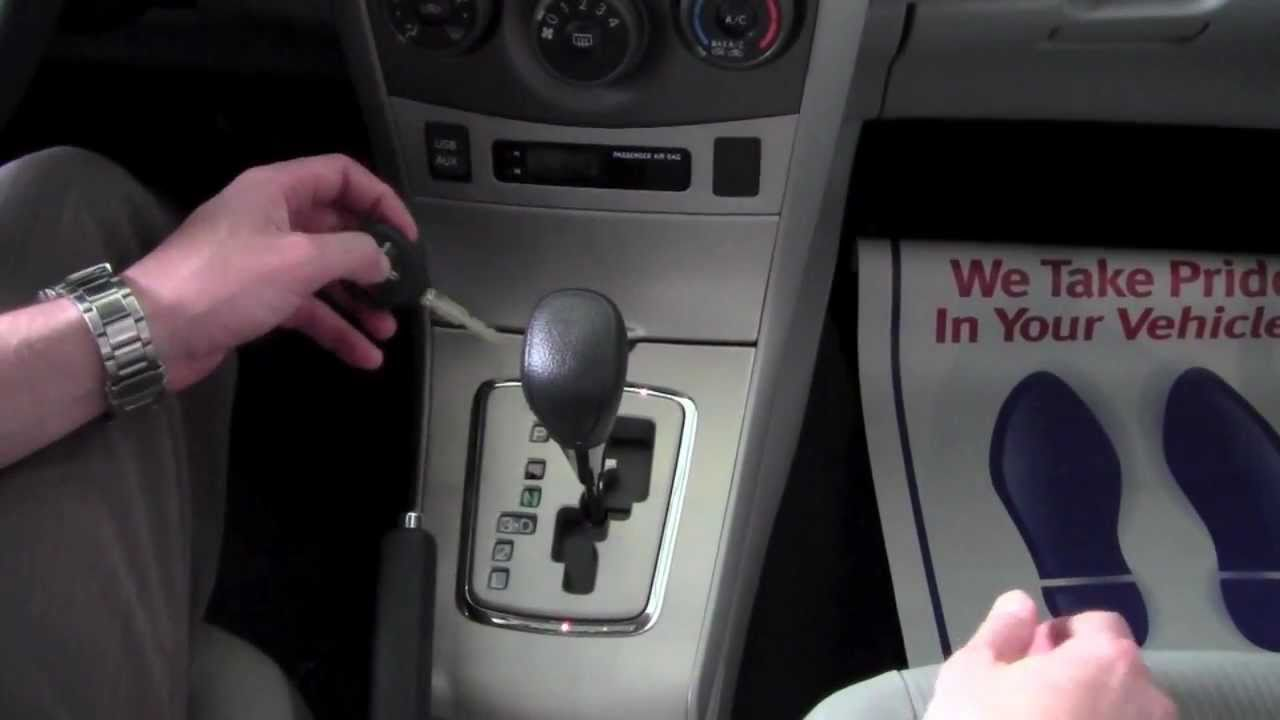 2011 | Toyota | Corolla | Shift Lock Release | How To by