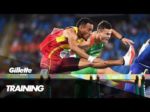 110m Hurdles Training with Spain's Orlando Ortega | Gillette World Sport