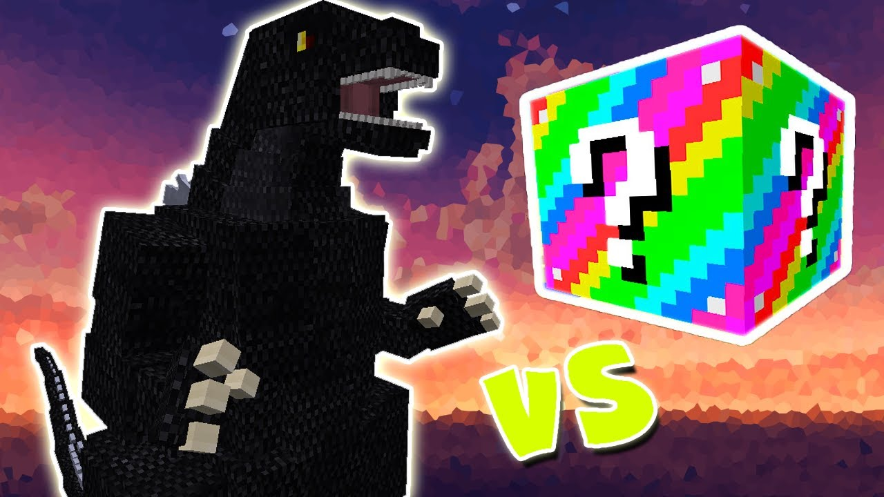 Godzilla Vs Extreme Lucky Block Minecraft Lucky Block Challenge