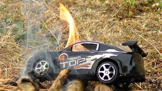 CAR IN FIRE TOY CAR BURNED UP