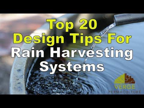 Top 20 Design Tips For Rain-Harvesting Systems