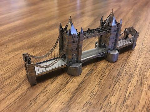 Metal Earth DIY steel sheets to 3D  laser cut models -TOWER BRIDGE