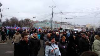 Митинг вежливых людей в поддержку воставшего Крыма