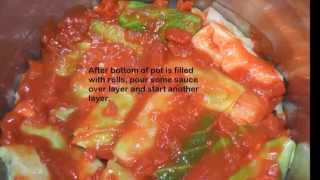 Stuffed Cabbage Rolls -- Balandėliai Golabki (hd 1080)