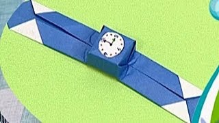 How to make a Paper Wrist Watch (Tutorial) - Paper Friends 36 | Origami for Kids