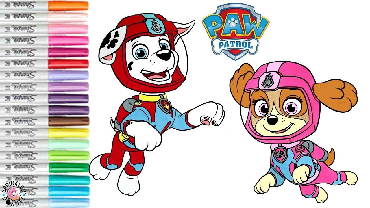 Paw Patrol Coloring Book Page Sea