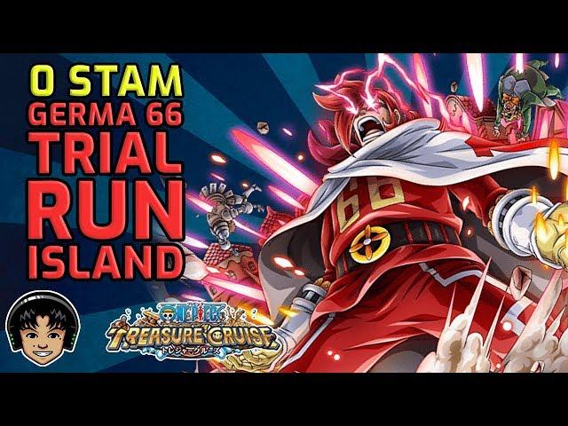 Walkthrough for 0 Stamina Germa 66 Team Showcase Island! [One Piece Treasure Cruise]