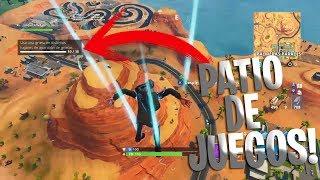 HACER LOS DESAFIOS EN PATIO DE JUEGOS!!-SE PUEDE!!-FORTNITE!