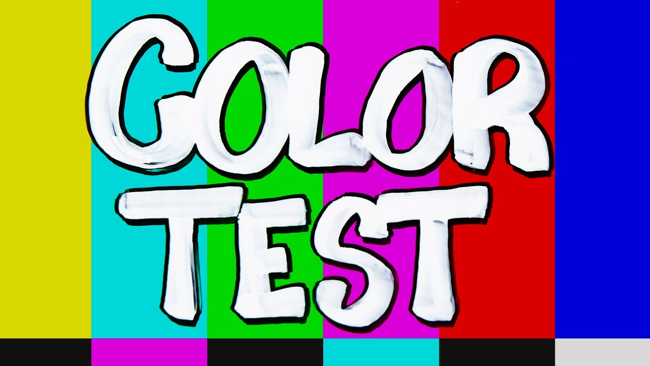 Color test youtube