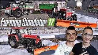 """MafiaSolec odwiedza moją Farme!! Odśnieżanie i wywóz sniegu❄️Farming Simulator 17""""Życie Rolnika""""#21㋡"""