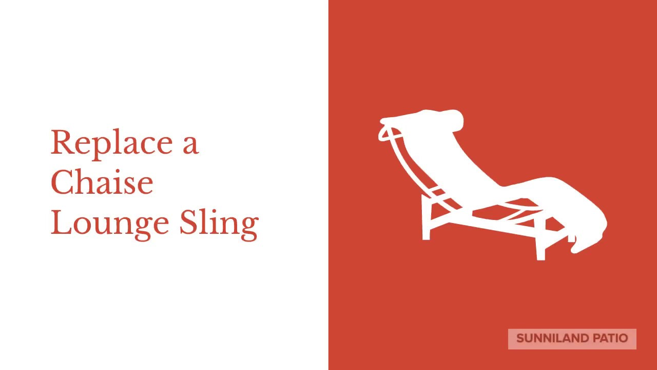 Quick Tutorial: Replace A Chaise Lounge Sling