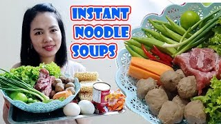 """Instant Noodle Soups Khmer easy food and Easy Recipe  ស៊ុបមីងាយៗ """"Saop mi Khmer"""""""
