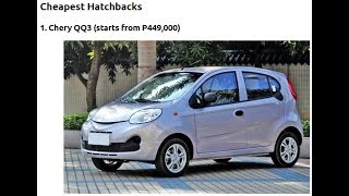 cheapest brand new car in the philippines