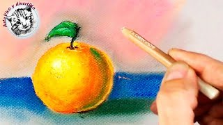 how to paint with soft pastels step by step 1 Materials and How to Paint an Orange with Soft Pastels