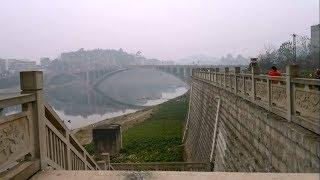 沿江路游览,沱江大桥气势如虹,沙洲美如画!