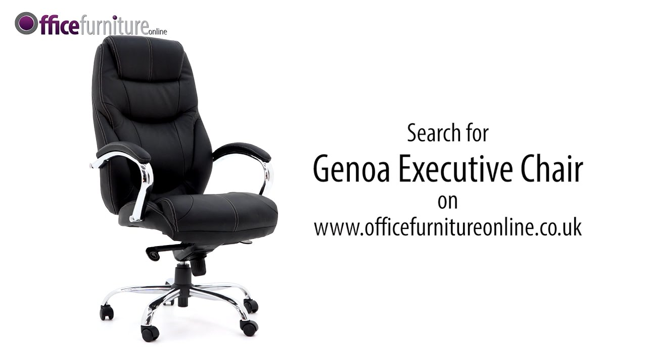 Genoa Top Leather Executive Office Chair - features and user guide  sc 1 st  YouTube & Genoa Top Leather Executive Office Chair - features and user guide ...