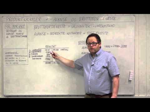 Produktkalkyler 7 - Avanse og bruttofortjeneste v.2.0