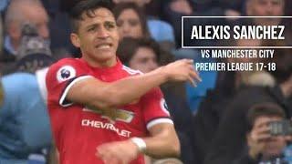 Alexis Sanchez vs Manchester City (Away) HD 720p - Manchester City vs Manchester United 2-3