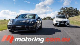 2017 Mercedes-AMG E63s v Porsche Panamera Turbo Track Test | motoring.com.au
