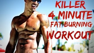 """Killer 4 Minute Fat Burning Workout"" Lose Fat Fast With Tabata / Hiit Cardio"