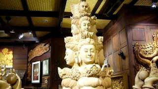 "Tiki Thai Arts • ""guan Yin Of A Thousand Arms"" Carving • Chiang Mai, Thailand •"