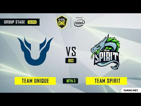 Team Unique vs Team Spirit vod