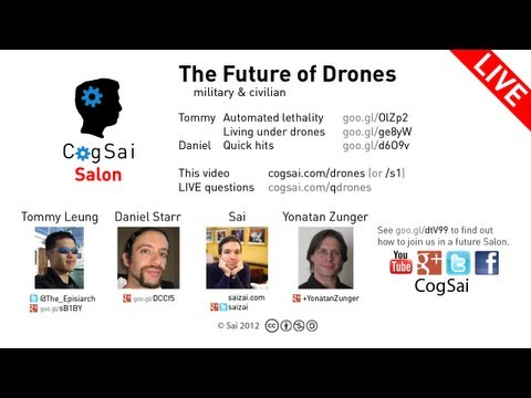 LIVE CogSai Salon on the future of drones (recorded)