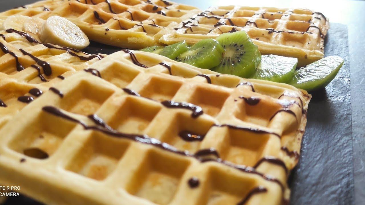 Ricetta Waffle Di Benedetta.Waffle Fatte A Casa Ricetta Semplicissima Youtube