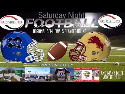 La Vernia Vs La Féria Regional Semi Finals Football Game