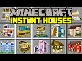 Minecraft INSTANT HOUSES MOD! | BUILD AND SUMMON INSTANT MANSIONS! | Modded Mini-Game