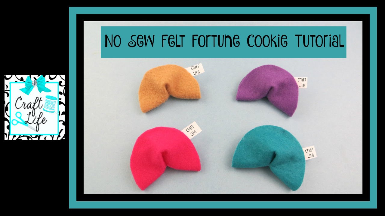 Craft Life Diy No Sew Felt Fortune Cookie Tutorial Youtube