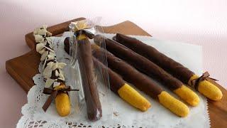 パンプキンチョコポッキー|cook kafemaruさんのレシピ書き起こし