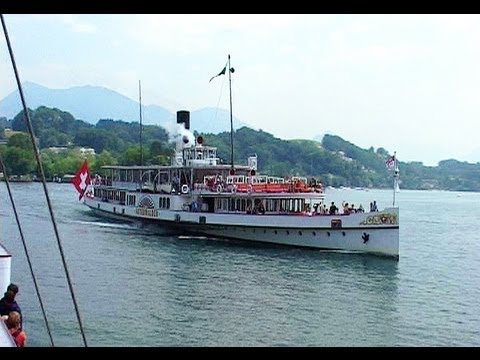 PADDLESTEAMER RIDE, LAKE LUCERNE from Footloose in Switzerland