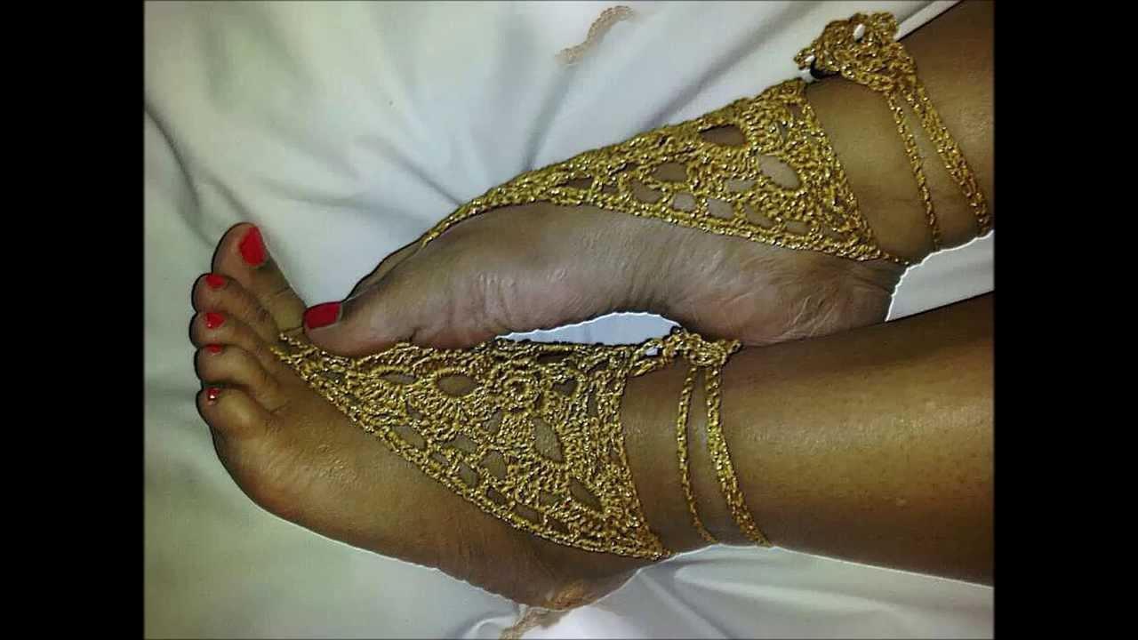 Barefoot Sandals By Crochet Hooka - Ayala Novelties - YouTube