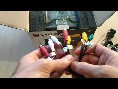Обзор Cyclone MP-7092 (2/16 Гб) часть 2: распаковка магнитолы, внешний вид, разъемы, комплектация