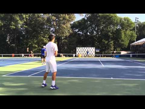 [HD] Kei Nishikori Groundstroke Practice @ Citi Open Aug. 8 2015