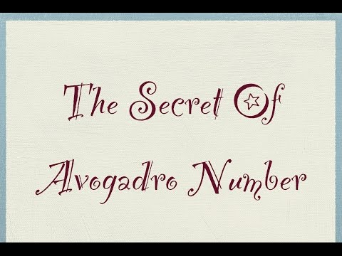 The secret of Avogadro Number | Chemistry Tutor l
