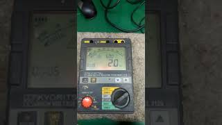 REPAIR KYORITSU HIGH VOLTAGE INSULATION TESTER 3125 | INGRESS MALAYSIA