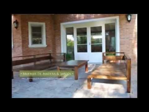 Sillones fijos de madera para galer a y jard n muebles for Sillones de jardin de madera