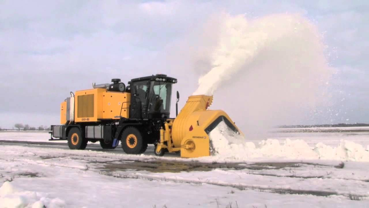 Airport Snowblower Snow Wolf SB-1050.mov - YouTube