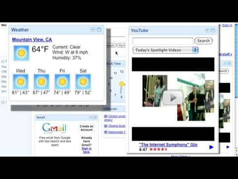 Add gadgets and themes to iGoogle