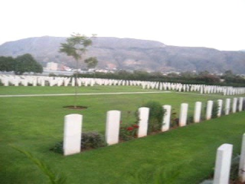 The Allied war cemetery at Souda Bay, Crete