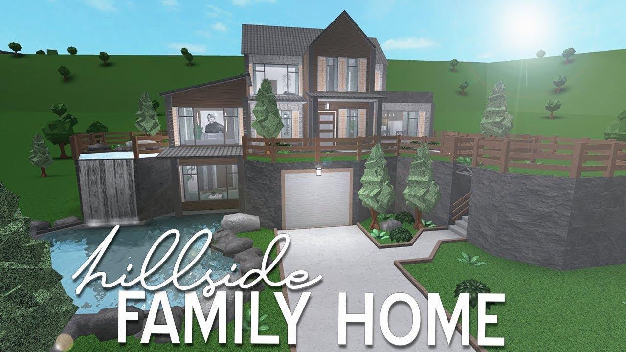 Bloxburg: Hillside Family Home 96k - YouTube