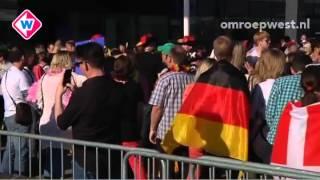 sfeer voor begin van de finale van het eurovisiesongfestival