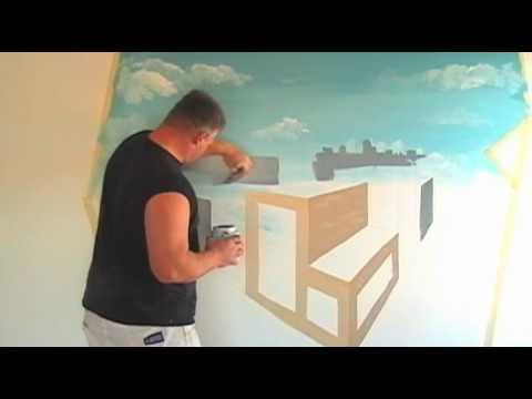 Boys Bedroom Mural Iron Man Green Apple Painting YouTube